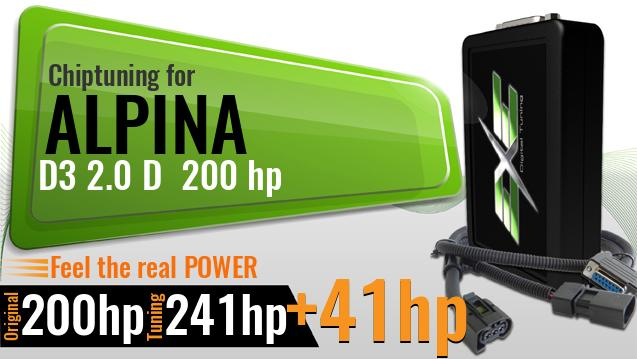 Chiptuning Alpina D3 2.0 D 200 hp