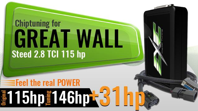 Chiptuning Great Wall Steed 2.8 TCI 115 hp