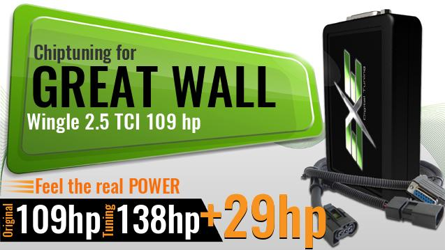 Chiptuning Great Wall Wingle 2.5 TCI 109 hp