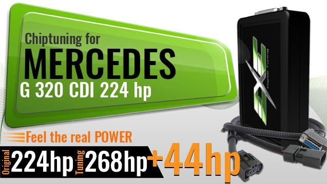 Chiptuning Mercedes G 320 CDI 224 hp
