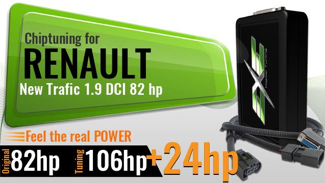 Chiptuning Renault New Trafic 1.9 DCI 82 hp