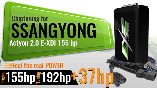 Chiptuning Ssangyong Actyon 2.0 E-XDI 155 hp