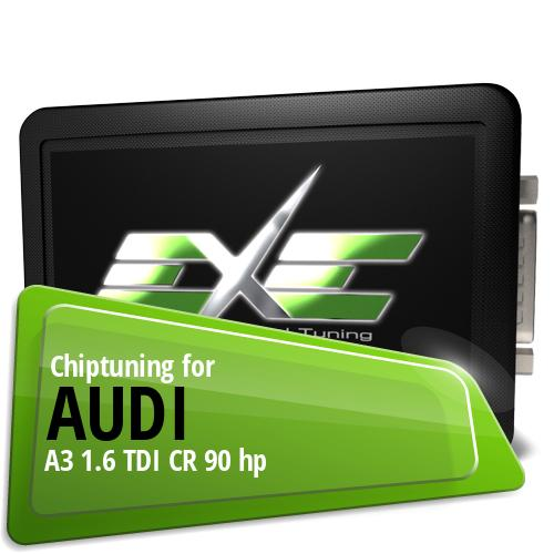 Chiptuning Audi A3 1.6 TDI CR 90 hp