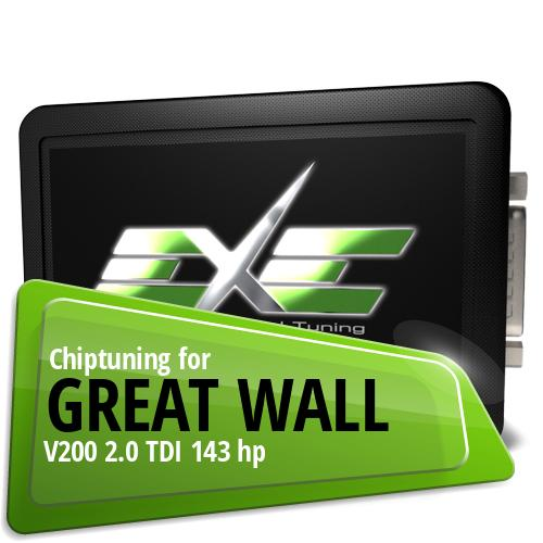 Chiptuning Great Wall V200 2.0 TDI 143 hp