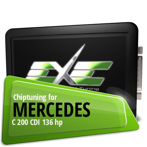 Chiptuning Mercedes C 200 CDI 136 hp