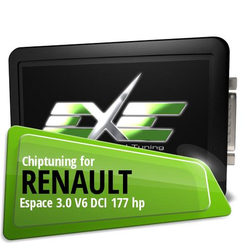 Chiptuning Renault Espace 3.0 V6 DCI 177 hp