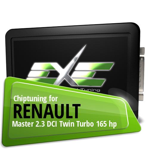 chiptuning renault master 2.3 dci twin turbo 165 hp