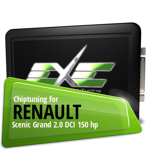 Chiptuning Renault Scenic Grand 2.0 DCI 150 hp