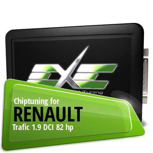 Chiptuning Renault Trafic 1.9 DCI 82 hp